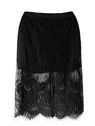 Women's Fashion Bud Silk Hollow Out Skirts