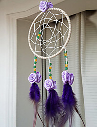 Purple Rose Dream Catcher