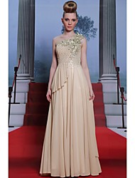 Formal Evening Dress A-line / Princess One Shoulder Floor-length with