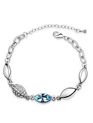 Women's Cuff Bracelet Silver Rhinestone/Cubic Zirconia