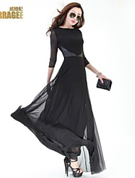 Verragee®  High-end European and American Big Temperament Was Thin Long-sleeved Dress  Large Size Women