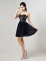A-line Sweetheart Knee-length Evening Dress