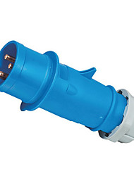 HENNEPPS HN1227 Waterproof Industrial Connector Male Industrial Plug CE 230V 50A 2P+E IP44 6H 10-16mm²