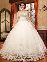 Ball Gown Sweetheart Lace Floor-length Wedding Dress