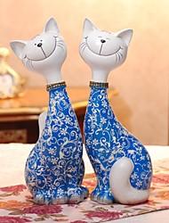 """h14 """"une paire de chat nouveaux ornements de salon cadeau de mariage nouvelle décoration artisanat mobilier"""