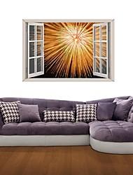 Adesivos de parede adesivos de parede 3D, fogo de artifício de parede decoração adesivos de vinil