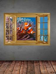 Adesivos de parede adesivos de parede 3D, de profundidade de parede peixes decoração adesivos de vinil