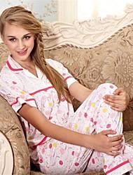 cetim de poliéster / sexy casual / festa set sleepwear