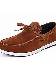 Chaussures Hommes Décontracté Noir / Marron / Marine Coton Chaussures Bateau