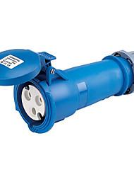 HENNEPPS HN1237 Waterproof Industrial Connector Female Industrial Socket CE 230V 50A 2P+E IP44 6H 10-16mm²