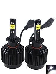 CONQUER®2PCS H1  40W High Brightness High Power CREE LED Headlight Headlamp for Car