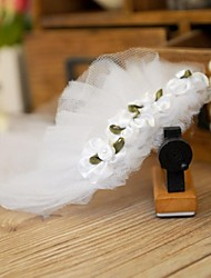 Wedding Headdress Head Flower Bridal Veil for Dogs