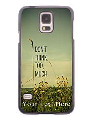 cas de téléphone personnalisé - ne pense pas trop conception boîtier métallique pour les Samsung Galaxy S i9600