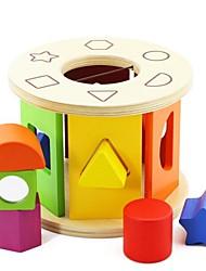 roda de triagem brinquedo quebra-cabeça de madeira benho forma madeira de bétula
