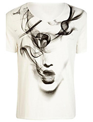 RICHCOCO Women's Loose Circle-Neck Short-Sleeveless T-shirt