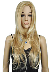 Women's Blonde Long Curly Punk Wig