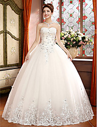 Ball Gown Wedding Dress - Classic & Timeless Lacy Looks Floor-length Sweetheart Lace with Appliques / Beading