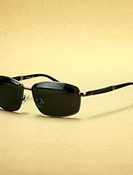 rectangle mode en alliage de lunettes de prescription de mesure hommes polarisés