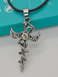 Men's Cross Angel Wings Snake Necklace