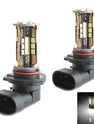 hj 9006 10w 900LM 5500-6000K 30x2835 SMD LED branco lâmpada de luz de freio de estacionamento (12-24V, 2 peça)