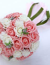 rosa e branco bouquet de casamento