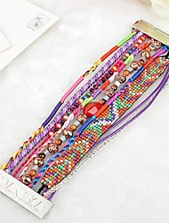 Hand-Woven Colored Hipanema Bracelet