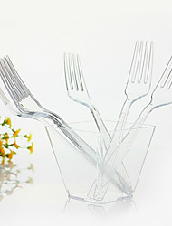 jetable dîner fourchette en plastique transparent, 1000pcs / set