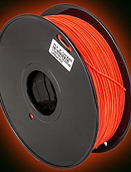 dazzlelight fluorescente 3d imprimante 3d filament consommables d'impression matière (abs pla, 3.0mm 1,75 ± 0,02 mm, 1kg)