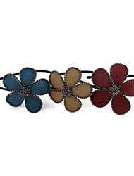cuir bleu fleur de la mode avec des bandeaux de strass pour les femmes (bleu, café, rouge) (1 pc)