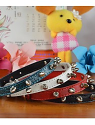 Crocodile PU Leather Collar with One Row Spikes for Dogs and Pets (assorted colors,size)