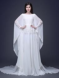 Trumpet/Mermaid Floor-length Wedding Dress -Bateau Lace