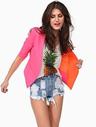 Women's Pink/Yellow Blazer , Work