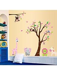 lumineux Stickers muraux stickers muraux, bande dessinée animale arbre pvc style stickers muraux