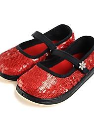 Girls' Shoes Round Toe Flat Heel Glitter Flats Shoes