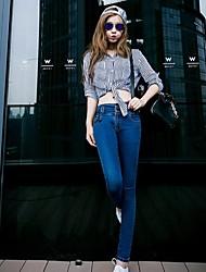jeans sottili vita alta delle donne
