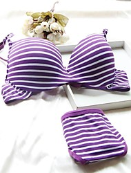 5/8 cup Bras & Panties Sets , Underwire Bra Cotton