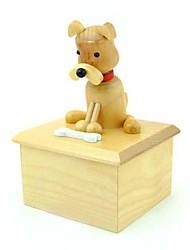 patrón de los animales de madera juguetes de la caja de música giratorias (patrón aleatorio)