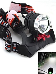 exLED 10W 1200lm 6500K White LED 3-Mode Headlamp / Bike Light / Hunting Fishing Light (2 x 18650)