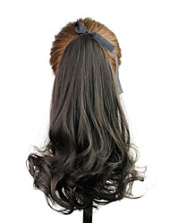 14 Inch Wave Clip In Ribbon Ponytail High Quality Heat Resistant Fiber Synthetic Hair Extension