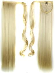Синтетический Прямой Блондинка Хвостик