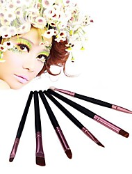 6 Makeup Brushes Set Goat Hair Face / Lip / Eye Others