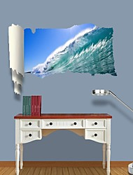 3D Wall Stickers Wall Decals, Ocean Waves Decor Vinyl Wall Stickers