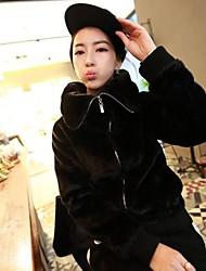 Fur Jacket Fashion Long Sleeve Turndown Faux Fur Party/Casual Jacket