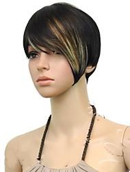 Top-Qualität kurze gerade Mischungsfarben synthetische Haarperücken
