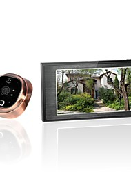 4.7inch GSM Peephole Video Doorbell, GSM Call+ Motion Detection+ Photo Shooting + IR Night Vision Function