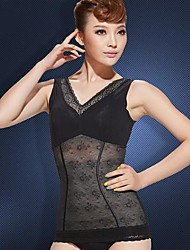 Thin Strapless Shapewear Breathable Seamless Abdomen Drawing Slimming Vest Black Color Size XL and XXL