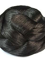 Vintage Coil Bun Chignon Wig (Black)