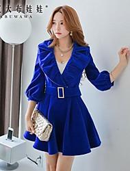 Pink Doll® Women's   Fashion Lapel Slim Coat
