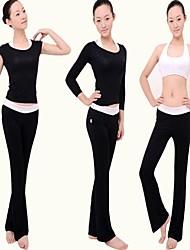 Femme Yoga Tenus Sans manche Séchage rapide / Antistatique / mèche / Limite les Bactéries Gris Clair / Noir / Pourpre clair YogaS / M / L
