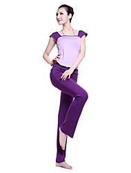 Yoga Fitness Short Sleeve Blouse And Pants